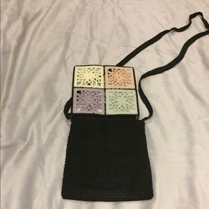 Bags - Pastel and Black Crochet Crossbody